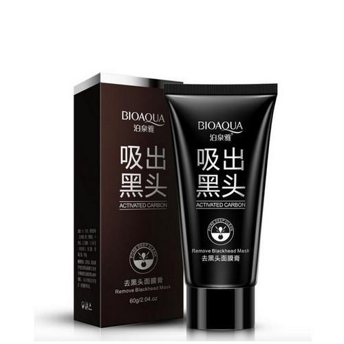 Маска с активированным углем от черных точек и прыщей 60 грамм (Bioaqua, Маски) чёрная маска от черных точек bioaqua