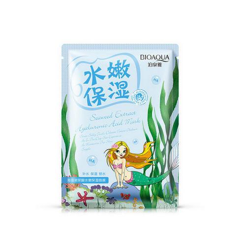 Bioaqua маска для нормальной и жирной кожи лица с коллагеном медом и морскими водорослями premier