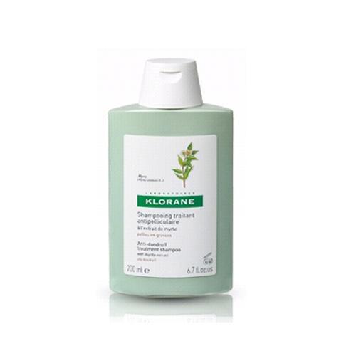 Шампунь с экстрактом Мирта  от жирной перхоти 200мл (Dandruff) (Klorane)