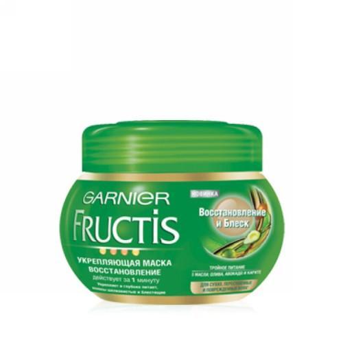 Маска Восстановление и блеск 300 мл (Garnier, Для волос) garnier fructis маска для непослушных волос макадамия 390 мл