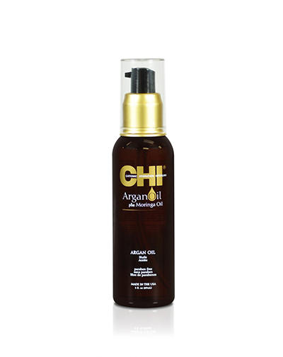 Chi Масло для волос с экстрактом масла Арганы и дерева Маринга 89 мл (Chi, Argan Oil) chi luxury black seed oil curl defining cream gel