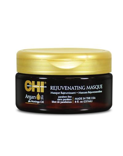 Chi Омолаживающая маска с экстрактом масла Арганы и дерева Маринга 200 мл (Chi, Argan Oil) chi luxury black seed oil curl defining cream gel