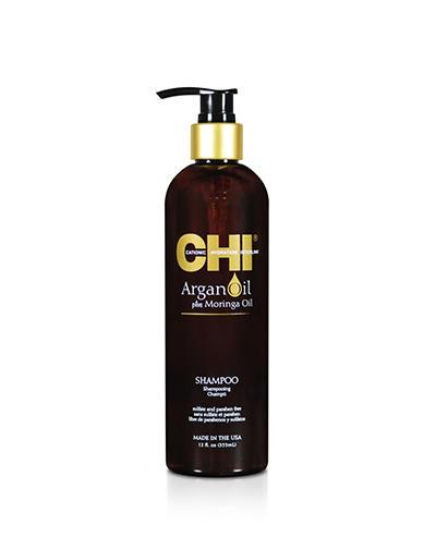 Chi Шампунь с экстрактом масла Арганы и дерева Маринга 355 мл (Chi, Argan Oil)