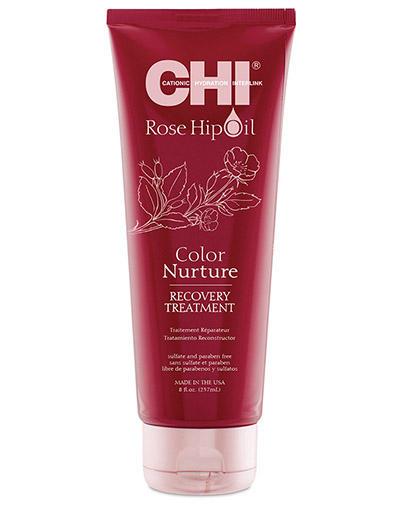 Chi Маска с маслом дикой розы питание цвета 237 мл (Chi, Rose Hip Oil) chi luxury black seed oil curl defining cream gel