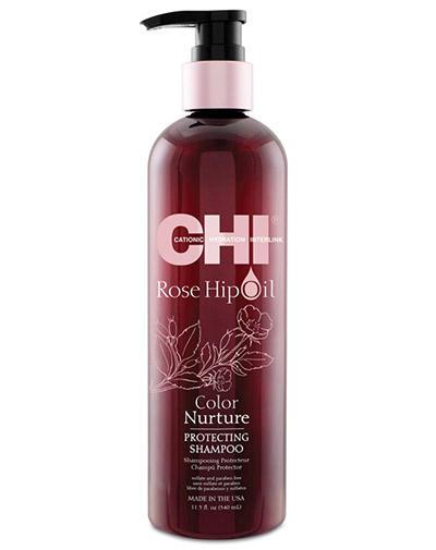 Chi Шампунь Масло дикой розы питание цвета 340 мл (Chi, Rose Hip Oil)