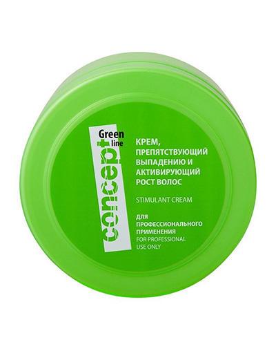 Concept Крем, препятствующий выпадению и активирующий рост волос Hair Loss Reducing and Stimulant Cream 300мл (Concept, Green Line)