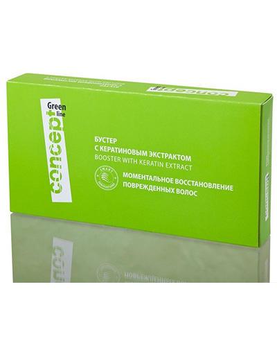 Concept Бустер с кератиновым экстрактом 10*10 мл (Concept, Green Line) concept green line бустер с кератиновым экстрактом для волос 10 мл 10 шт
