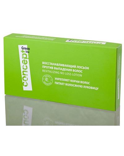 Concept Восстанавливающий лосьон против выпадения волос 10 * 10 мл (Concept, Green Line) лосьон против выпадения волос creastim lotion antichute anti hair loss lotion 2 30мл
