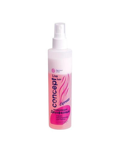 Concept Спрей-кондиционер для волос двухфазный увлажняющий 2-phase moisturizing Conditioning spray, 200 мл (Concept, Live Hair) фото