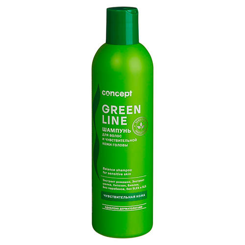 Фото - Concept Шампунь для чувствительной кожи головы Balance shampoo for sensitive skin, 300 мл (Concept, Green Line) concept восстанавливающее масло двойное действие 10 10 мл concept green line