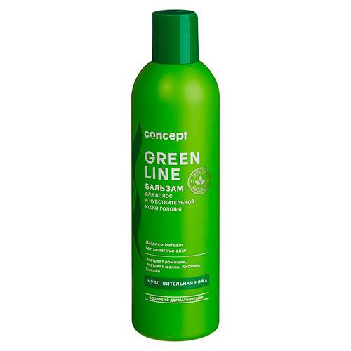 Фото - Concept Бальзам для чувствительной кожи головы Balance balsam for sensitive skin, 300 мл (Concept, Green Line) concept восстанавливающее масло двойное действие 10 10 мл concept green line