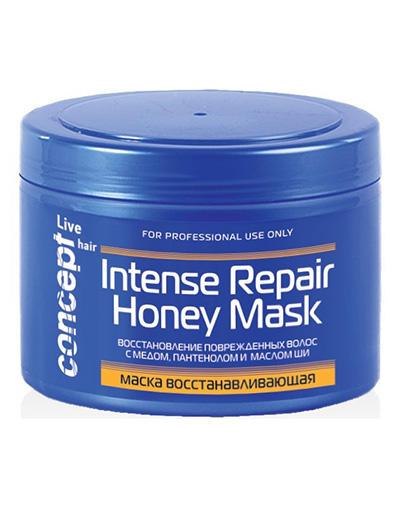Concept Маска восстанавливающая с медом для сухих и поврежденных волос Intese repair Honey masк 500 мл (Concept, Live Hair)