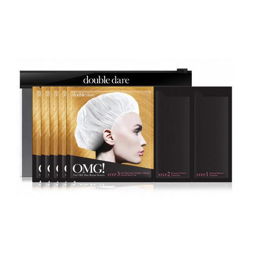 Купить Double Dare OMG Трехкомпонентный комплекс масок «РЕАНИМАЦИЯ ВОЛОС», упаковка 5 штук (Double Dare OMG, OMG!), США