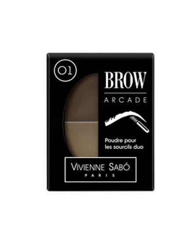 Купить со скидкой Vivienne sabo Brow Arcade Тени для бровей двойные, тон 01 (Vivienne sabo, Глаза)