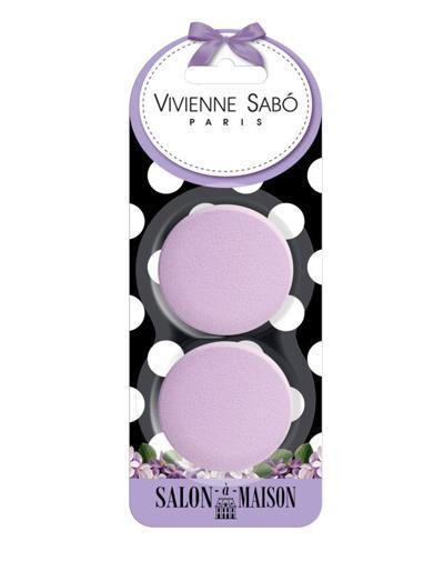 Набор круглых латексных спонжей для макияжа 2 шт. (Vivienne sabo, Аксессуары) vivienne sabo набор велюровых спонжей для макияжа 2 шт
