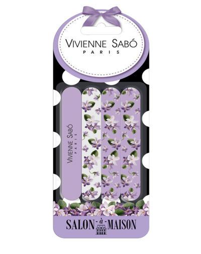 Набор пилочек для ногтей Nail file set Kit de limes a ongles (Vivienne sabo, Аксессуары) vs пилка двухсторонняя nail file lime a ongles