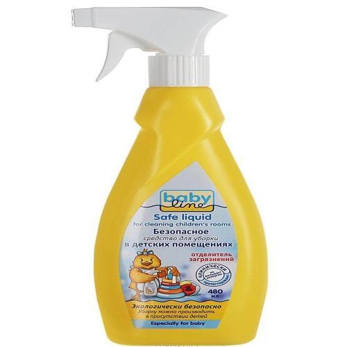 Baby line Безопасное средство для уборки детских помещений, 480 мл (Безопасная детская бытовая химия)