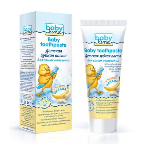 Baby line Детская зубная паста со вкусом банана, 1-4 лет, 75 мл (Уход за зубками)