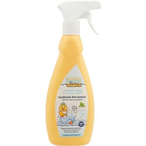 Натуральное детское моющее средство для мытья детских ванн и горшков, 500 мл (Baby line, Бытовая химия)