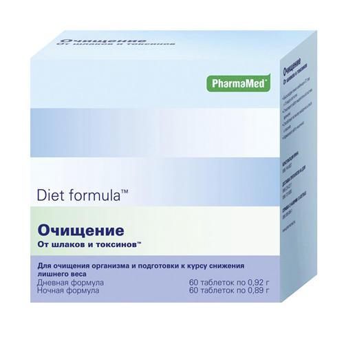 Diet formula Очищение от шлаков и токсинов дневная формула таблетки №60 + ночная формула таблетки №60 (Diet formula, Контроль аппетита)