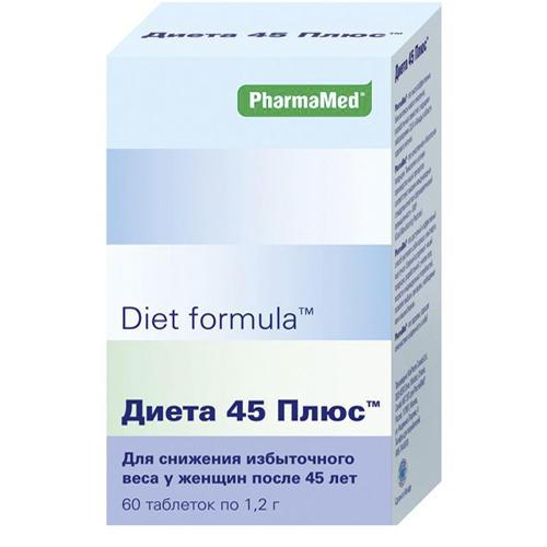 Diet formula Диета 45 плюс таблетки №60 (Diet formula, Контроль аппетита)