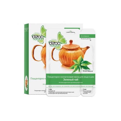 Маска для лица и шеи Зеленый чай омоложение 1шт (Dizao, Активный лифтинг) маска для лица зеленый чай farmstay маска для лица зеленый чай