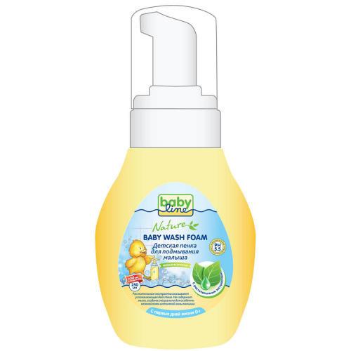 Baby line Детская пенка для подмывания малыша с растительными экстрактами с дозатором 250мл+30мл (Baby line, Для купания)