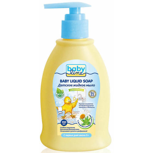 Детское жидкое мыло с дозатором 250мл (Baby line, Для купания) мыло жидкое babyline nature 250 мл