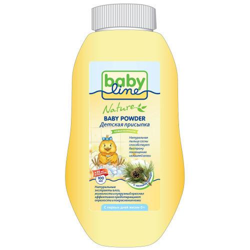 заказать Baby line Бейби Лайн Детская присыпка с сосновой пыльцой 100г+25% объема дополнительно (Nature)