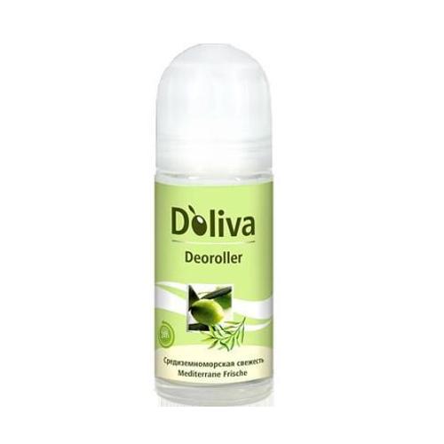 Дезодорант роликовый Средиземноморская свежесть, 50 мл (Дезодорант)Дезодоранты<br>Бесспиртовой роликовый дезодорант DOliva линии &amp;laquo;Средиземноморская свежесть&amp;raquo;, содержит высокоэффективную формулу на основе тосканского оливкового масла первого холодного отжима, что гарантирует бережный уход за деликатной кожей и свежесть в течение 24-х часов. Дезодорант DOliva препятствует появлению раздражения на коже после удаления волос в подмышечных впадинах и имеет легкий свежий аромат.<br><br>Линейка: Дезодорант<br>Объем мл: 50<br>Пол: Женский<br>Проблема: Неприятный запах<br>Назначение: Успокаивающий уход<br>Зона применения: Уход за телом