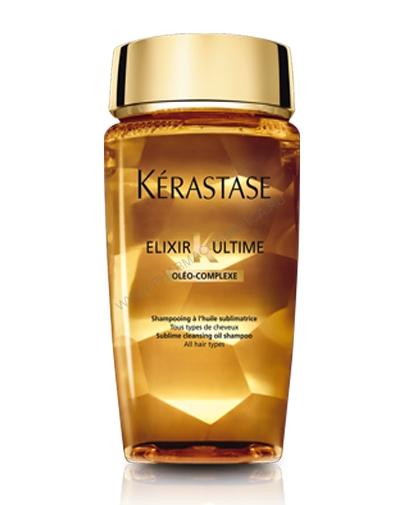 Очищающий шампунь-ванна на основе масел Эликсир Ультим, 250 мл (Elixir Ultime) (Kerastase)