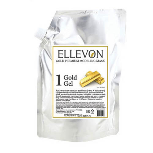 Ellevon Премиум альгинатная маска с золотом (гель + коллаген) 1000 мл+100 мл (Маска)