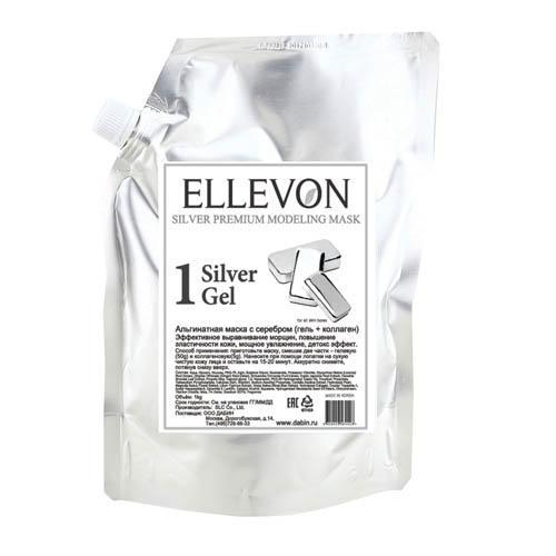 Премиум альгинатная маска с серебром (гель коллаген) 1000 мл100 мл (Ellevon, Маска) ellevon альгинатная маска премиум с гранатом гель коллаген 1000 100 мл