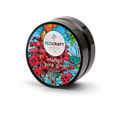 EcoCraft Скраб для лица Манго и розовый имбирь, 60 мл (EcoCraft, Для лица)