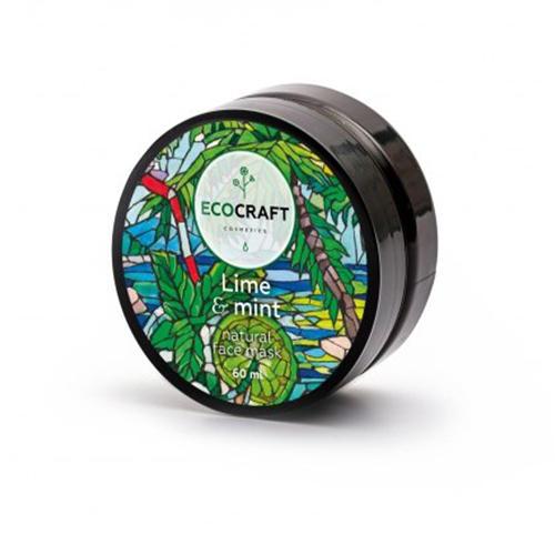 EcoCraft Маска для лица и зоны декольте Лайм и мята, моделирующая, 60 мл (EcoCraft, Для лица) ecocraft противовоспалительный серум мист для лица лайм и мята 30 мл