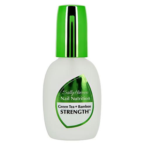 Средство 2 в 1 база и верхнее покрытие для восстановления и блеска Nail nutrition green tea bambo (Sally Hansen, Уход за ногтями) sally hansen nail nutrition strength