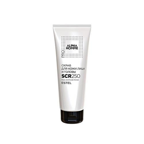 Купить Estel Скраб для кожи лица и головы PRO, Alpha homme 250 мл (Estel, Alpha Homme), Россия