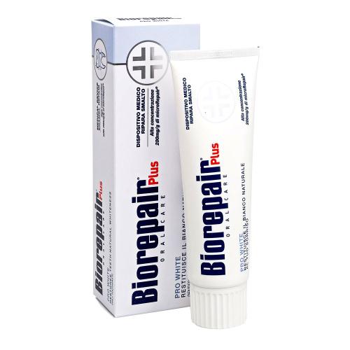 Отбеливающая зубная паста Biorepair Pro White Plus 75 мл (Biorepair, Ежедневная забота) biorepair whitening зубная паста отбеливающая 75 мл