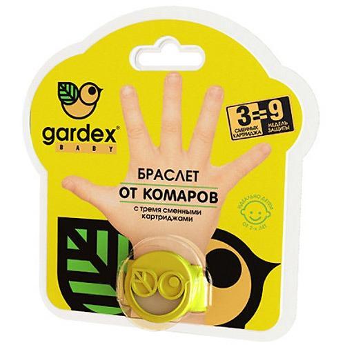 Браслет от комаров с 3я сменными картриджами (Gardex, Baby) браслет от комаров bugslock из кореи