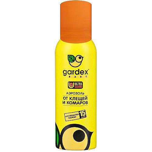 Аэрозоль от клещей и комаров на одежду 100 мл (Gardex, Baby) аэрозоль picnic baby от клещей и комаров 125мл