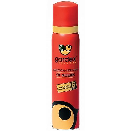 Аэрозольрепеллент от мошки и комаров 100 мл (Gardex, Extreme) gardex гардекс бэби молочко от комаров с защитой от солнца 75 мл