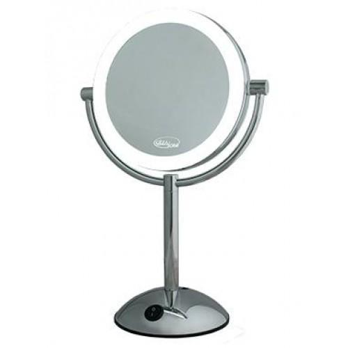 LM195 Зеркало косметологич. 2-х стороннее со светодиодной подсветкой Gezatone (Gezatone)