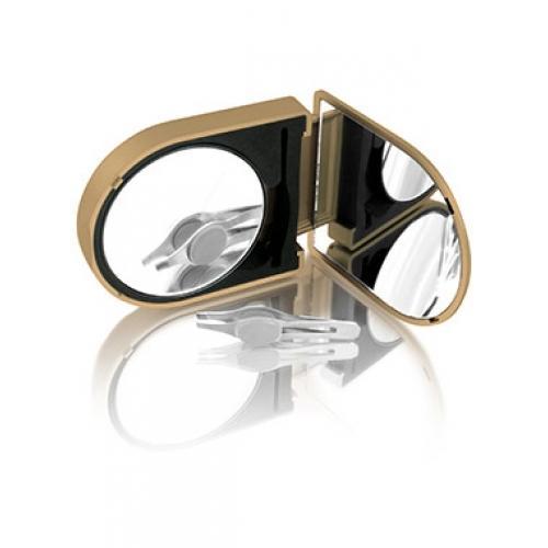 LM100 Зеркало косметологическое 10x, с подсветкой, золотое Gezatone (Gezatone)