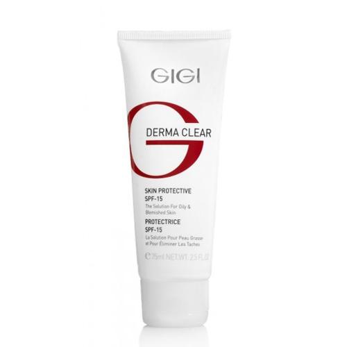 GIGI Крем увлажняющий защитный SPF 15, 75 мл (Derma Clear)