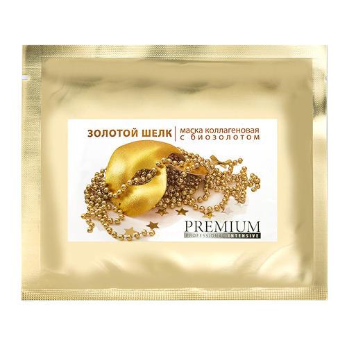 Маска коллагеновая Золотой шелк с биозолотом, 1 шт (Intensive) (Premium)