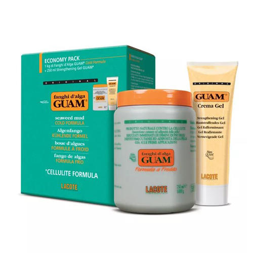 Guam Fanghi dAlga Маска антицеллюлитная с охлаждающим эффектом 1000 г + Гель-лифтинг укрепляющий 250 мл (Fanghi dAlga)