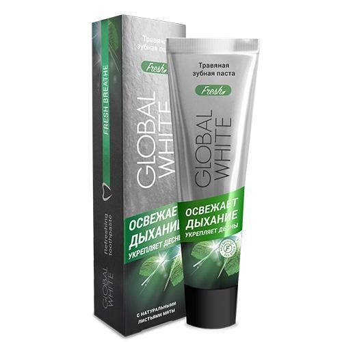 Global white Травяная, освежающая дыхание зубная паста 100 мл (Зубные пасты)