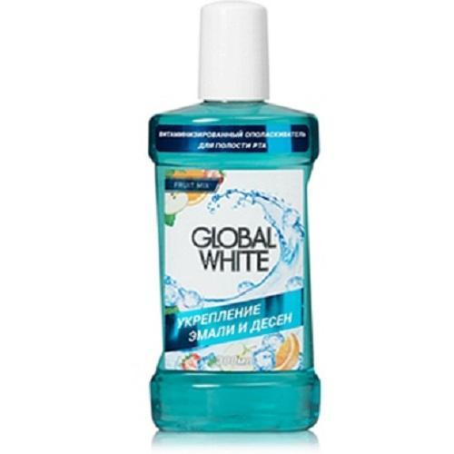 Витаминизированный ополаскиватель 300 мл (Global white, Ополаскиватели) ополаскиватель blanx white shock антибактериальный 500мл д полости рта