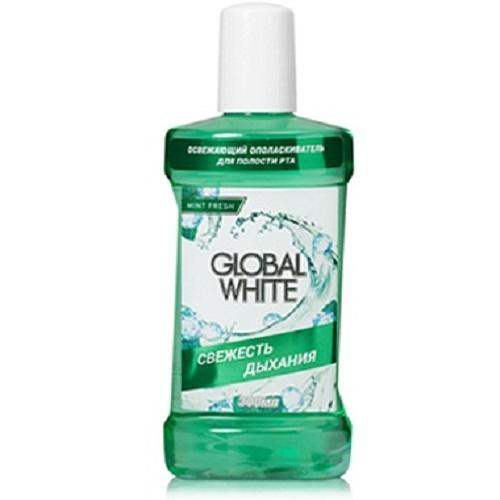 Global white Освежающий ополаскиватель  300 мл (Global white, Ополаскиватели)
