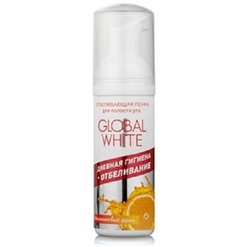 Global white Отбеливающая пенка для полости рта, со вкусом апельсиновый фреш  50 мл (Отбеливающие системы)